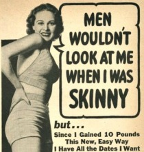 vintage ad to gain weight for women