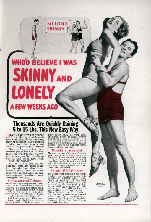 vintage ad gain Weight So Long Skinny