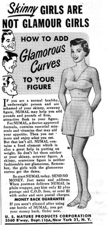Vintage ad Numal Gain Weight