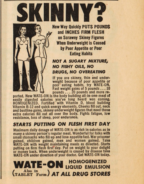 Vintage ad WATE-ON Dont be skinny
