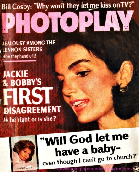 Vintage Photoplay Magazine cover July 1966 Jackie Kennedy photo