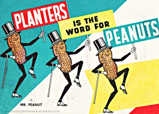 vintage ad Mr Peanut for Planters