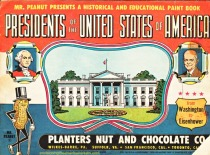 Mr Peanut Coloring Book of Presidents of USA 1950s