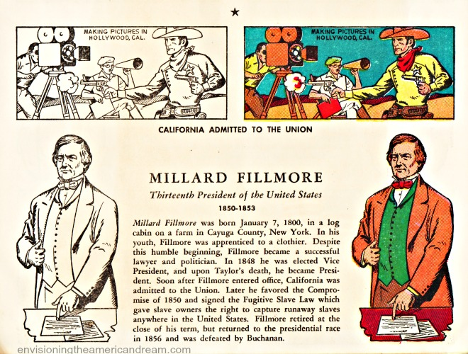 Millard Fillmore coloring book page from Mr Peanut Coloring Book