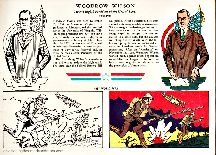 Woodrow Wilson coloring book page from Mr Peanut coloring book
