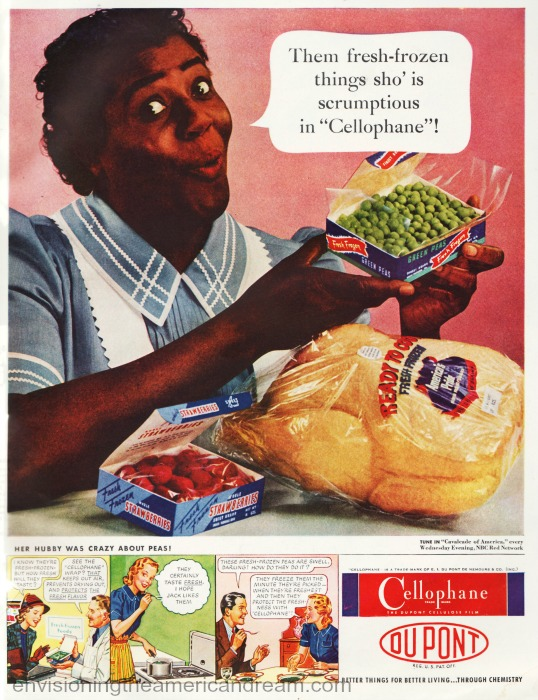Vintage ad 1940s Black Maid with food