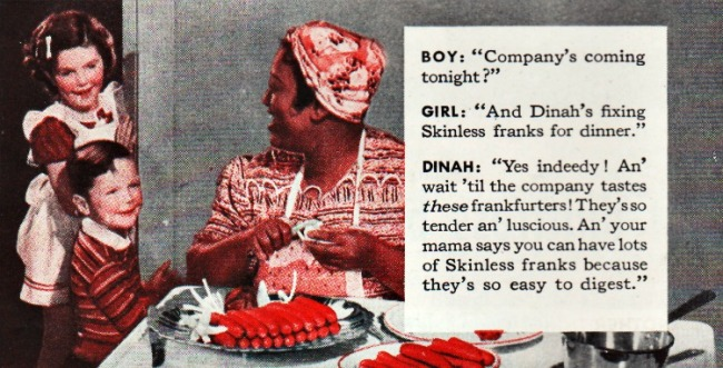 vintage stereotype of Black mammy cooking