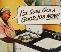 Vintage racist ad GE 1947 Black Maid