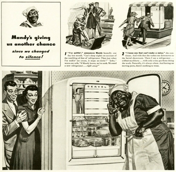 vintage ad illustration stereotype Black Mammy