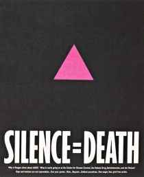 AIDS Silence equals death poster