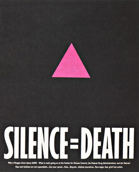 AIDS Silence =death poster 1980s