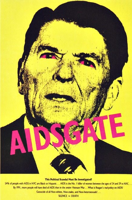 AIDSgate poster Ronald Reagan 1987