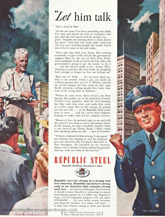 Vintage ad 1948 Republic Steel