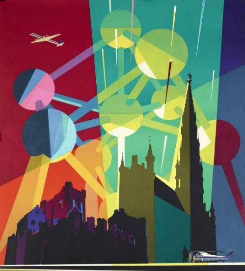 Belgium Worlds Fair 1958 Sabena Airlines graphic