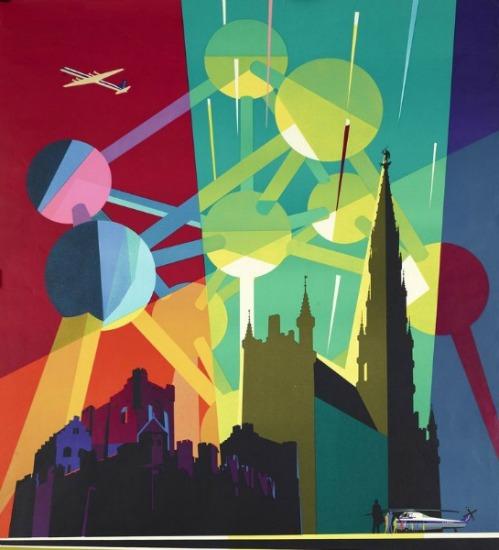 Belgium Worlds Fair 1958 Sabena Airlines graphic