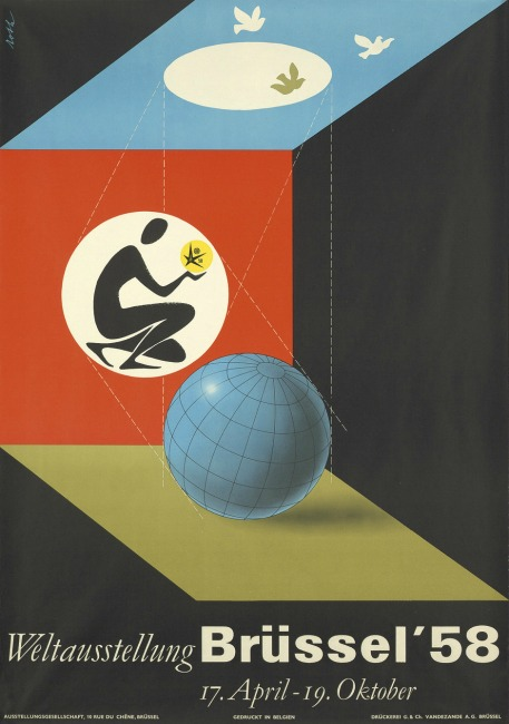 Brussels Worlds Fair 1958 Poster
