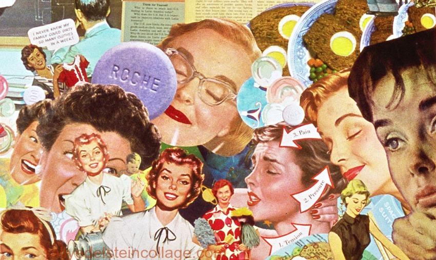 "Detail ""White Wash"" collage by Sally Edelstein"