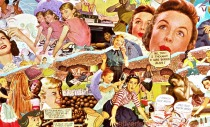 collage appropriated vintage images Sally Edelstein