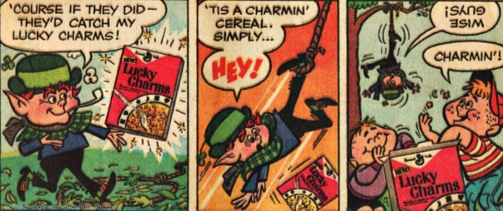 vintage cartoon Lucky Leprechaun Lucky Charms