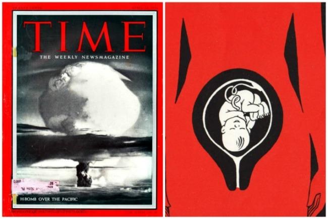 collage H Bomb 1954 in Utero