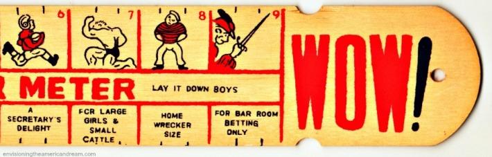 """wooden """"peter meter"""" 1950s"""