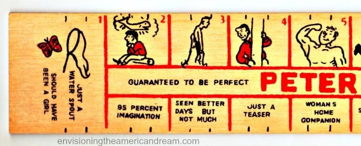 "Vintage wooden ""Peter Meter"" 1950's"