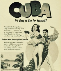 Travel to Cuba Vintage ad