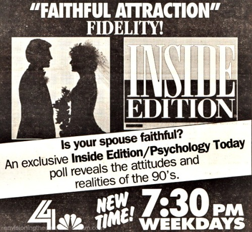 Vintage newspaper ad Inside Editionon Infidelity
