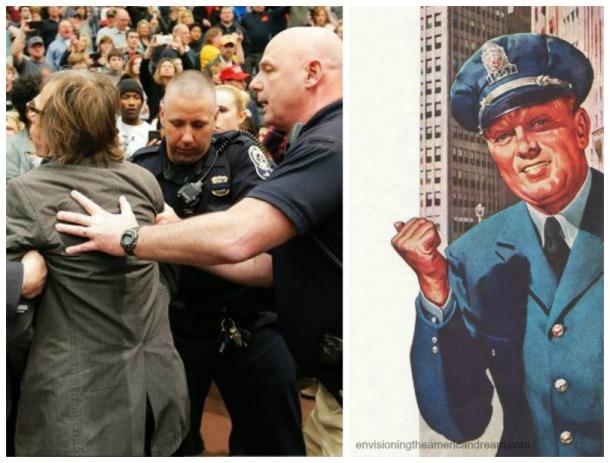 Trump rallies police