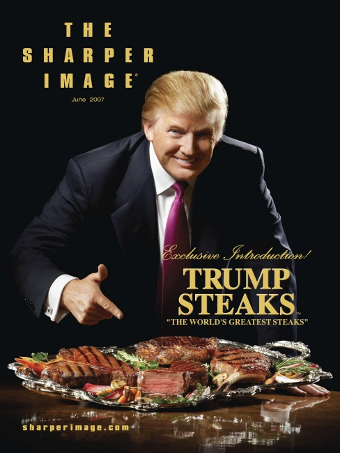 trump steaks Sharper Image