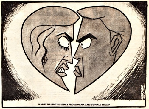 Trump Valentine feb 1990 Post editorial cartoon