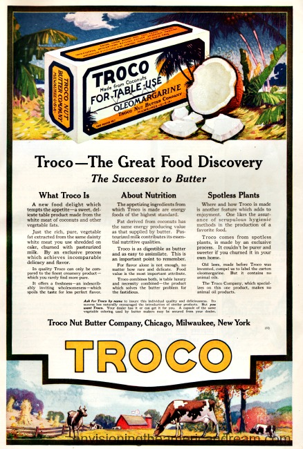 WWI vintage ad for margarine coconut