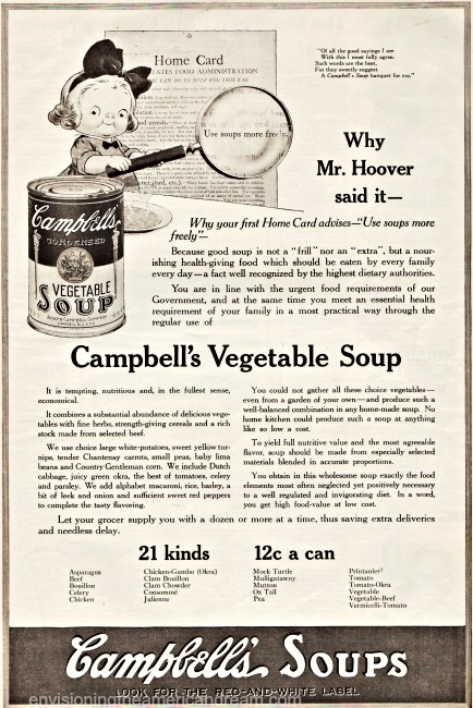 WWI Food Conservation Campbells