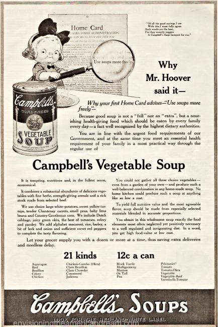 WWI Food Conservation Campbells