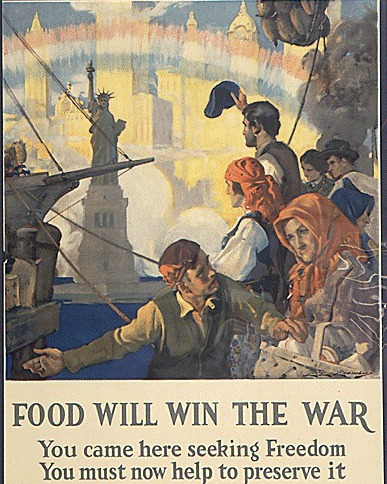 WWI poster Food Conservation Immigrants