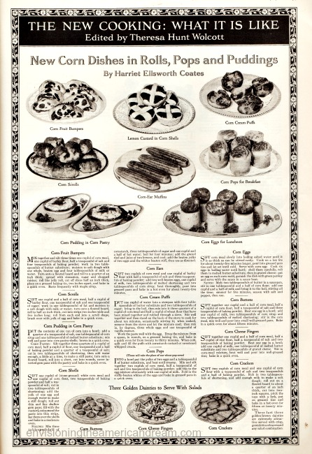 WWI Food Conservation New Cooking Wheatless