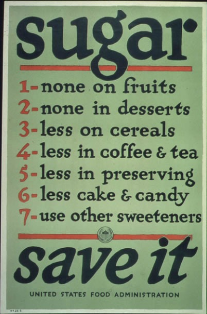 WWI Food conserve-sugar-poster