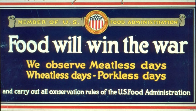 WWI Food Will Win the War poster