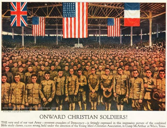 Onward Christian Soldiers pictures of WWI soldiers