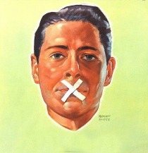 WWII Dont Talk taped mouth