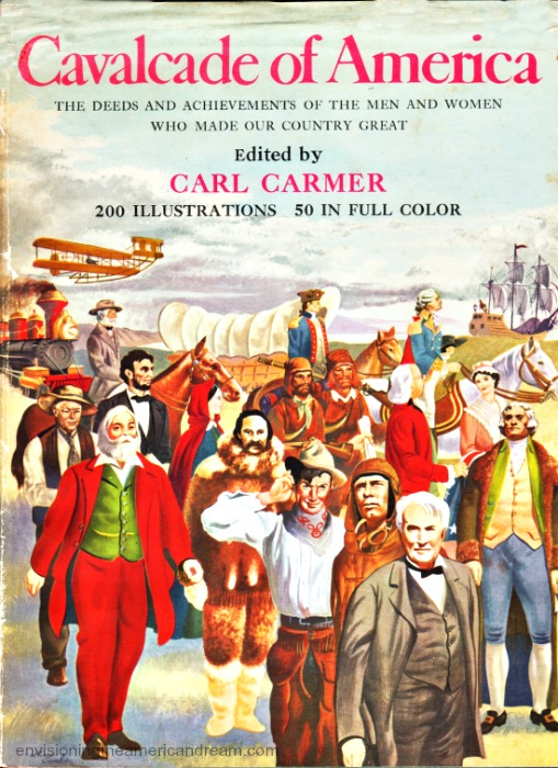Vintage history book Cavalcade of America by Carl Carmer