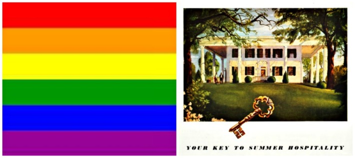 collage Gay flag and Southern Hospitality illustration