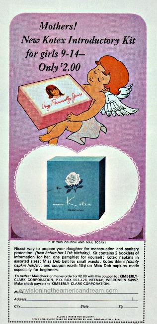 vintage Kotex ad 1965