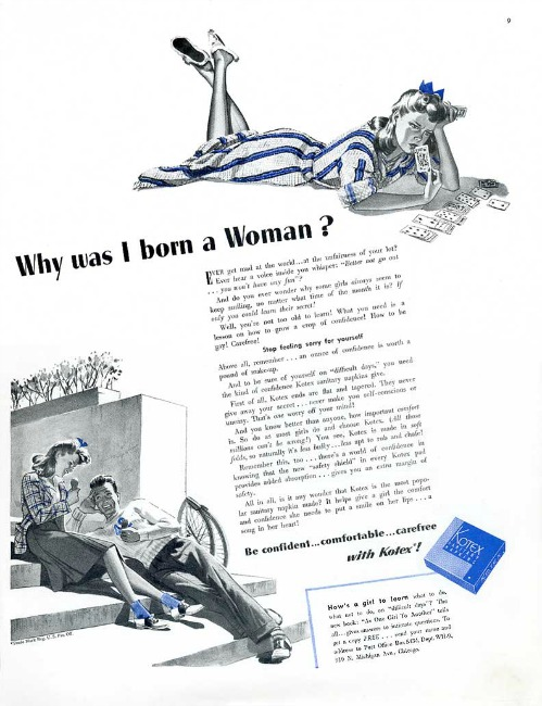 Vintage Kotex advertisement 1941