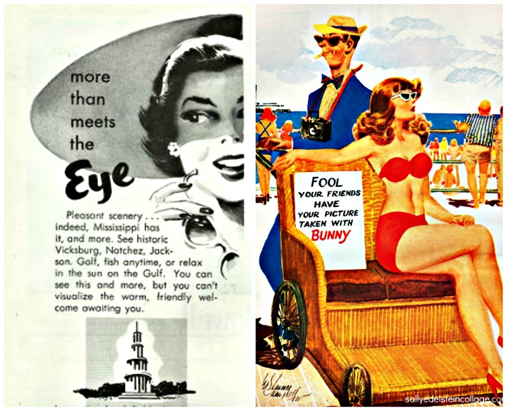 collage vintage ad mississippi more than meets the eye and vintage cartoon