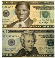 20 dollar bill Harrriet Tubman Jackson