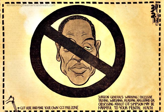 OJ Trial editorial cartoon