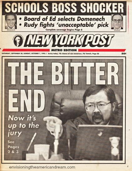 OJ Trial Jury Judge Ito NY Post headline