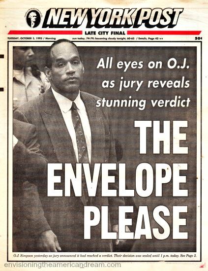 OJ Trial Jury Out NY Post headline 1995
