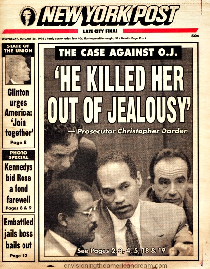 OJ trial The Case Against Him NY Post Jan 1995